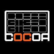 COCOA OC White Logo with Black Background